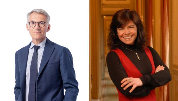 Auro Palomba, Presidente e fondatore di Community, e Alessandra Ferroni, Partner di Gianni & Origoni