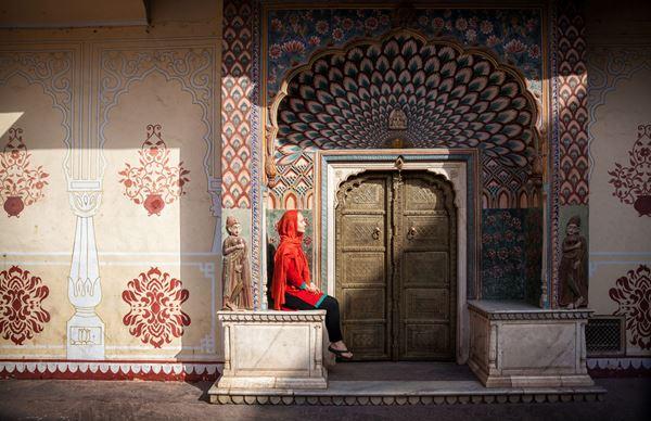 Lotus Gate, City Palace di Jaipur, Rajasthan. Foto di Marina Pissarova   @123RF.com