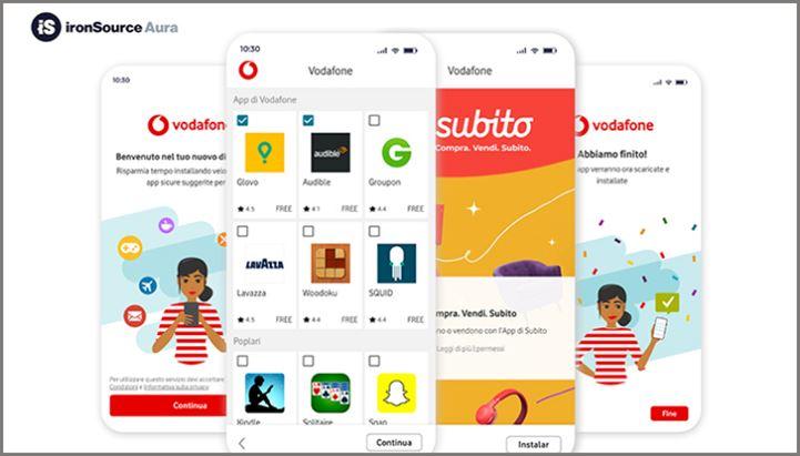 Sui dispositivi Vodafone arriva Aura, suite di IronSource per la monetizzazione di app e contenuti mobile