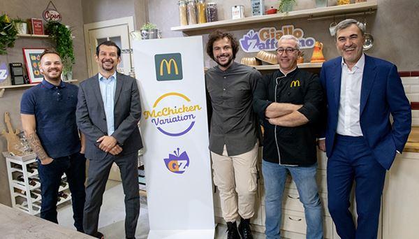 Manuel Saraceno, volto di GialloZafferano, Dario Baroni, Guglielmo Scilla, lo chef McDonald's Raffaele Bellini e Andrea Santagata