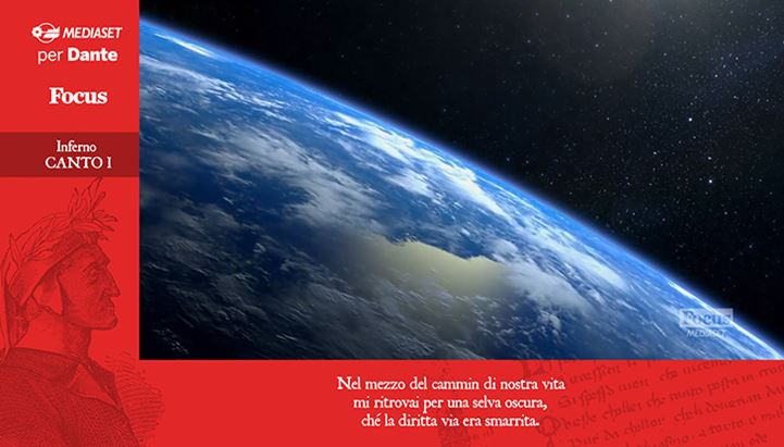 Un'immagine dell'iniziativa Mediaset per Dante prevista sul canale Focus