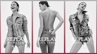 Alcune immagini della campagna dedicata a Replay Rose Label collection con Irina Shayk