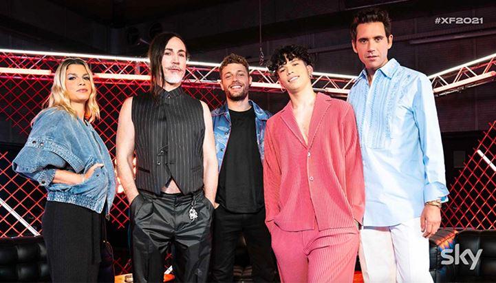 Il cast di X Factor 2021 (dal sito della trasmissione)