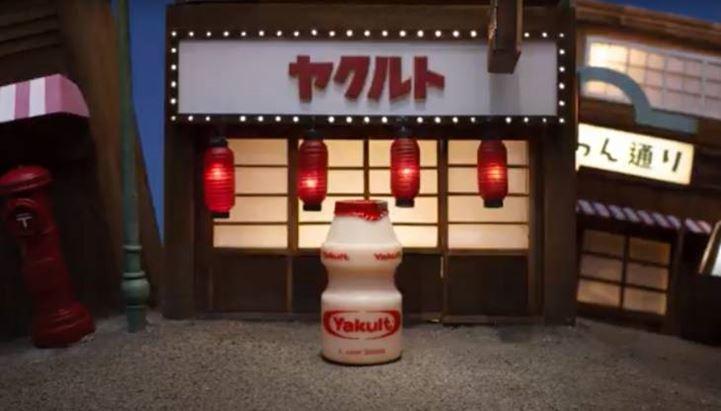 Un'immagine del nuovo spot pubblicitario di Yakult